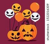 pumpkins cartoons design ... | Shutterstock .eps vector #1522016309