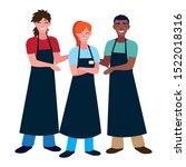 seller man and woman design ... | Shutterstock .eps vector #1522018316