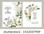 floral wedding invitation card... | Shutterstock .eps vector #1522037909