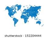 world map technology background