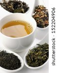 different sorts of green tea... | Shutterstock . vector #152204906