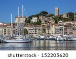 the harbor in cannes old town... | Shutterstock . vector #152205620