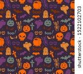 abstract seamless halloween... | Shutterstock . vector #1522102703