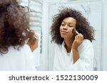 Beauty Makeup. Smiling Woman...