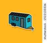 vector illustration of a tiny... | Shutterstock .eps vector #1522133336