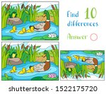 mother duck and ducklings with... | Shutterstock .eps vector #1522175720