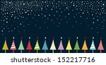 christmas card with christmas... | Shutterstock .eps vector #152217716
