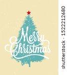 merry christmas card design... | Shutterstock .eps vector #1522212680