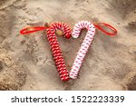 Red And White Candy Cane On...