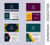 business card template... | Shutterstock .eps vector #1522227326