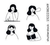 writing  speaking  listening ...   Shutterstock .eps vector #1522238249