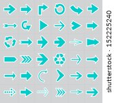 arrow icons | Shutterstock .eps vector #152225240