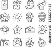 loyalty program icons set... | Shutterstock .eps vector #1522270466