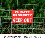 Sign Indicating Private...