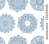 vintage seamless pattern for... | Shutterstock .eps vector #152233430