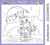 dot to dot drawing worksheets.... | Shutterstock .eps vector #1522334876