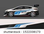 car decal wrap design vector....   Shutterstock .eps vector #1522338173