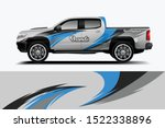 truck decal wrap design... | Shutterstock .eps vector #1522338896