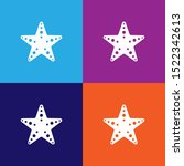 sea star icon. elements of...
