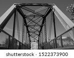Landmark Black And White Bridge