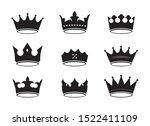 set of of black vector king...   Shutterstock .eps vector #1522411109