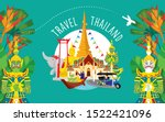 thailand travel icon  set of... | Shutterstock .eps vector #1522421096