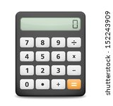 calculator on white background  ... | Shutterstock .eps vector #152243909