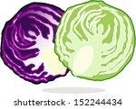 fresh purple  red  and green... | Shutterstock .eps vector #152244434