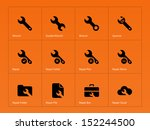 repair wrench icons isolated on ...