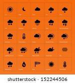 weather icons on orange...