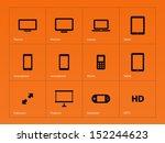 screens icons on orange...