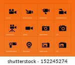 camera icons on orange...