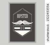 hipster poster illustration.... | Shutterstock .eps vector #1522453556
