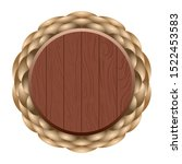 isolated wooden circle label... | Shutterstock .eps vector #1522453583