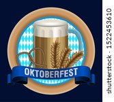 oktoberfest poster with a beer... | Shutterstock .eps vector #1522453610