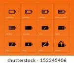 battery icons on orange...