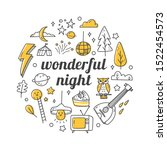 kawaii doodle set with quotes ... | Shutterstock .eps vector #1522454573