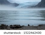 the Bering Glacier in Alaska from the other side of Vitus lake