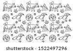 drawings background. vector... | Shutterstock .eps vector #1522497296
