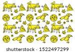 drawings background. vector... | Shutterstock .eps vector #1522497299