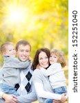 happy family having fun...   Shutterstock . vector #152251040