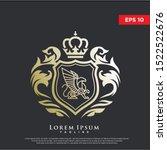 premium coat of arms griffin... | Shutterstock .eps vector #1522522676