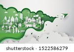 concept of eco with happy... | Shutterstock .eps vector #1522586279