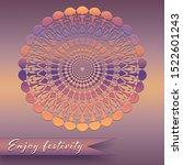 festive background. mandala... | Shutterstock . vector #1522601243