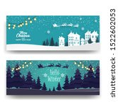 merry christmas background with ... | Shutterstock .eps vector #1522602053