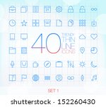 40 trendy thin line icons for... | Shutterstock .eps vector #152260430