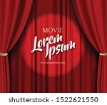 theater stage vector red heavy...   Shutterstock .eps vector #1522621550