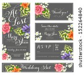 wedding invitation  thank you... | Shutterstock .eps vector #152264840