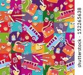 school pattern background | Shutterstock .eps vector #152265638