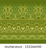floral seamless patterns and ornaments  - stock photo